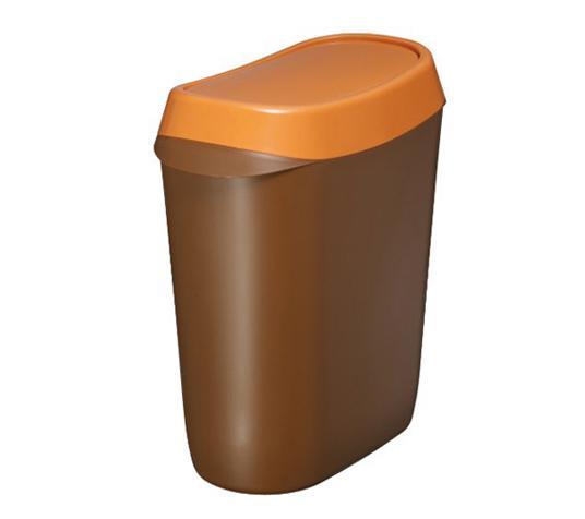 垃圾桶 3l(咖啡色)
